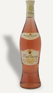 traditional rose wine bottle